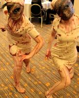 Silent Hill Nurses by checkingthecheese