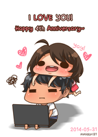 Happy 4th Anniversary by mmidori31