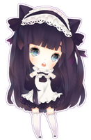Chibi Comm 3: Kittenhime by MoeMacaron