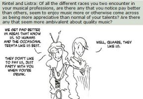Questions: Rintel and Listra 1 by applescruff