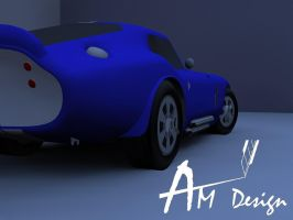 Shelby cobra daytona inspired Papercraft by Alejandr0-M