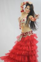 Red Belly Dancer smile by carolinaangulo