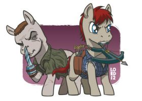 The Trotting Dead- the Dixon Bronies by lordmesa