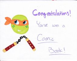 You've Won! - Michelangelo by Hiddenwithinthunder