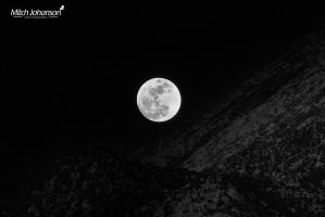 Moon Light on the Mountains BW by mjohanson
