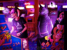 ::COLLAB:: Afternoon at the Arcade by AlexDachshund