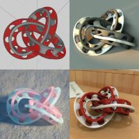 Wings 3D interlocking torus knot recipe by davidbrinnen