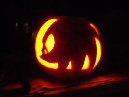 Knuckles Pumpkin by knuckles6k
