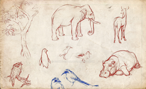 Zoo Life Drawings by Bonka-chan