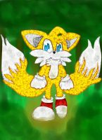 Tails-In the forest by Runnie-the-cheetah