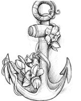 Anchor Tattoo by RikerCreatures
