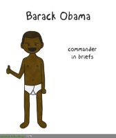 Barack Obama In His Underwear by MattMelvin