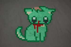 Zombie Cat by evilpika