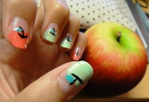 Apple Nails by wushini