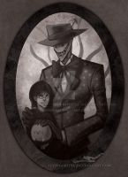 Creepy Splendorman: Lady and the Devil by Digimitsu