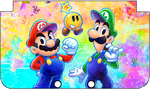 Nintendo 3DS XL Mario And Luigi 4 Faceplate by TheWolfBunny
