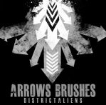 ARROWS BRUSHES by DistrictAliens