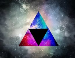 Spacey Triforce by SuperColourPhotos