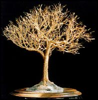 GOLDEN ELM - Wire Tree Sculpture, by Sal Villano by SalVillano