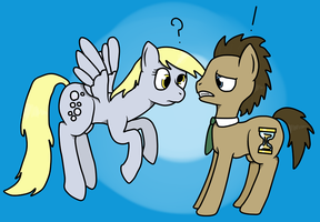 Derpy and The Doctor by HappyDeadPony