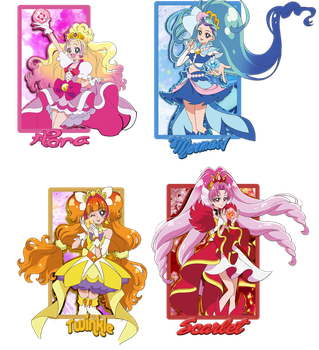 Go! Princess Cards by KemonoE-chan