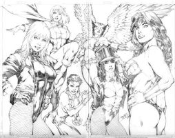 Double Splash by Ed Benes by JPMayer