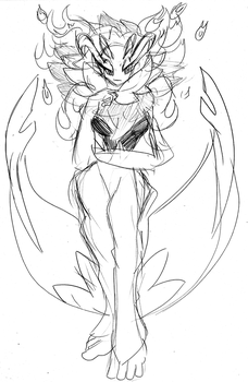 Fiora the Fire Flower Florges...thing. by UseTheBrakes