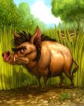 Wild Pig for Tiger Stripes by feliciacano
