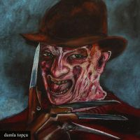 Freddy Krueger - pastel drawing by Damla Topcu by damla-deviantart