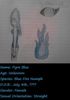 Character Sheet: Pyra Blue by AskTheInsanityPrince
