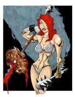 Red Sonja marker by drawhard