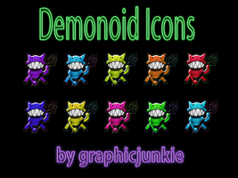 Demonoid Colored Glass Icons by graphicjunkie