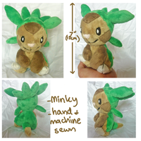 Chespin-gen 6 grass starter plush by SilkenCat