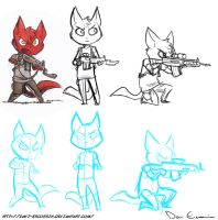 Sketch Dump - Chibi 4 - Chibi Soldier by davi-escorsin