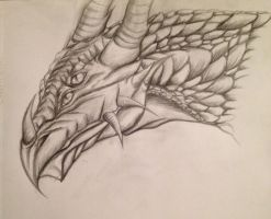 dragon head by Mechahound