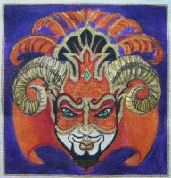 Devil Mask Rams Horns by HouseofChabrier