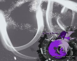 Music Freezes Time - WALLPAPER by Glamophonic