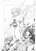 Superman  Supergirl X Darkseid - leve by miltonwiller