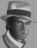 Peter Davison Speedpaint by Hokutochan15