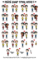 MINI STAR TREK OTPS - now more by taconaco