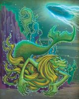 maritime monsters: mermaid by Kravenous