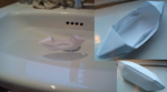 origami boat by flamingpickle