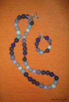 My first beads_felting by Maryka-di-gold
