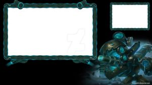 Battlecast Kogmaw Twitch Overlay (Teal Version) by Tramauhh