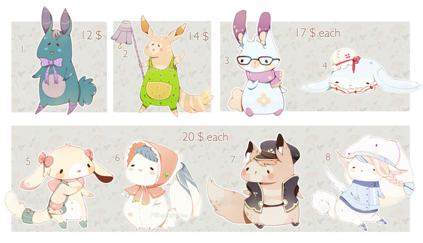 [CLOSED] ADOPT Set Price 48  Pet by Piffi-sisters