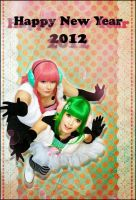 Vocaloid Luka + Gumi: NEW YEAR by elsch