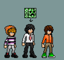 Me and mt friends in sprites by yurestu