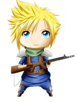 Prize: Chibi Cloud by xSilverDragoonx