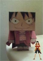Monkey D. Luffy Film Z Outfit Cubee Finished by rubenimus21
