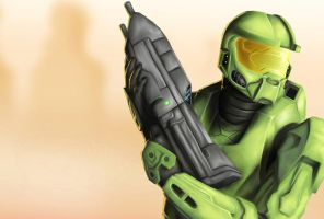 Master Chief by halwilliams